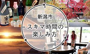 新潟市スキマ時間の楽しみ方1日でめぐるコースバナー
