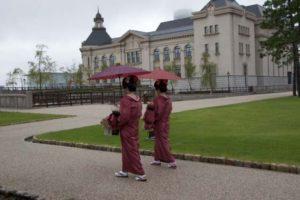 古町芸妓練り歩きイメージ図